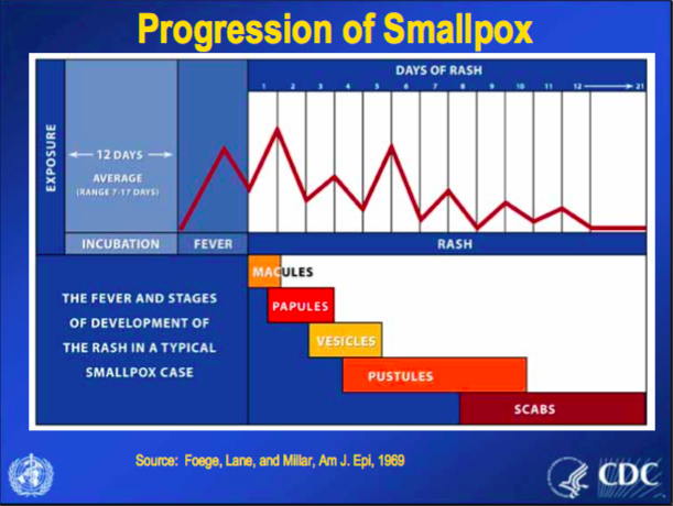 smallpox progression cdc